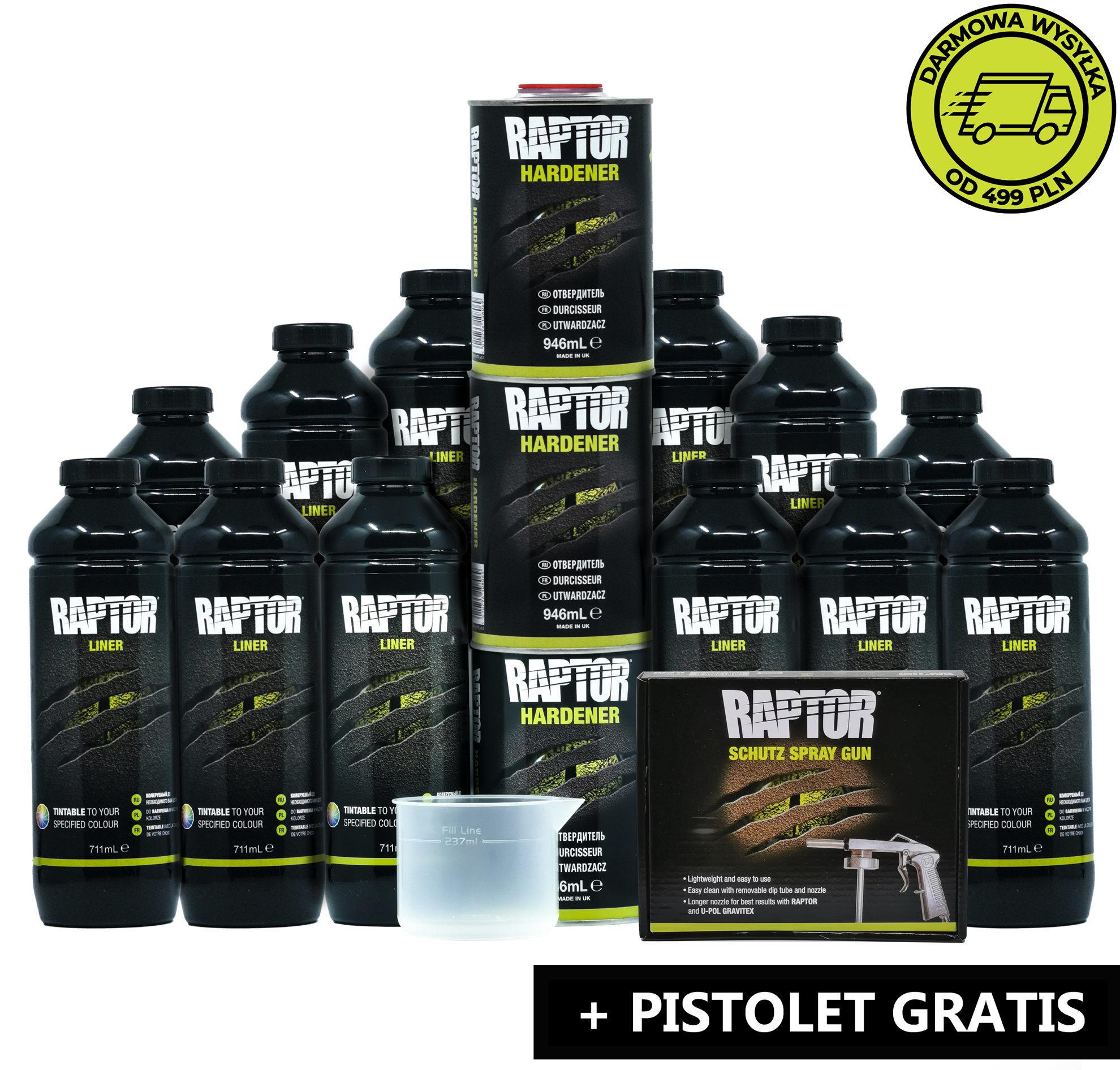 Zestaw 12 butelek Raptor + Pistolet Gratis